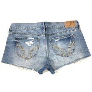 Hollister Distressed Low-Rise Shorts